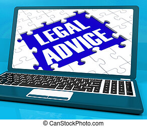 Legal Advice On Laptop Shows Criminal Justice
