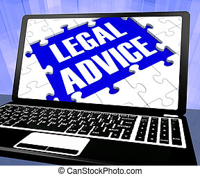 Legal Advice On Laptop Shows Legal Consultation