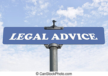 Legal advice road sign