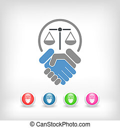 Legal agreement icon