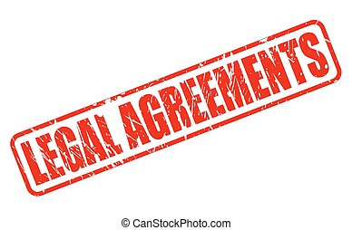 LEGAL AGREEMENTS RED STAMP TEXT ON WHITE