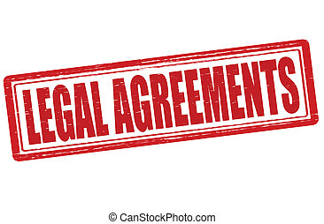 Legal agreements - Stamp with text legal agreements inside, ...