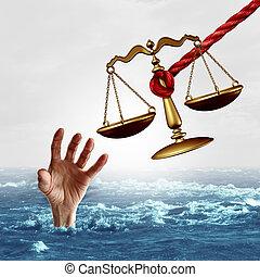 Legal Aid Concept