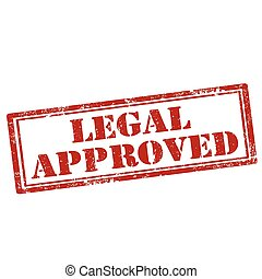 Legal Approved-stamp - Grunge rubber stamp with text Legal...