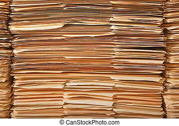 legal, archivo, pila