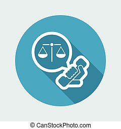 Legal assistance icon