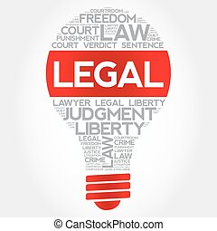 Legal bulb word cloud