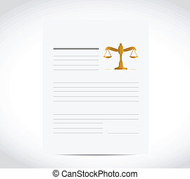 legal business document illustration design