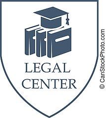 Legal center and law vector isolated icon