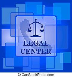 Legal center icon