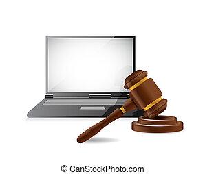 legal computer law concept illustration design