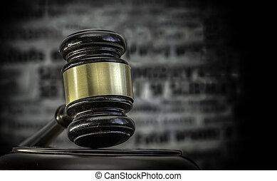 Legal crime law headlines concept i