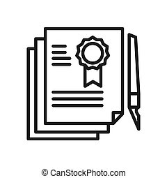 legal document vector illustration