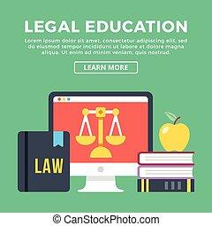 Legal education flat concept