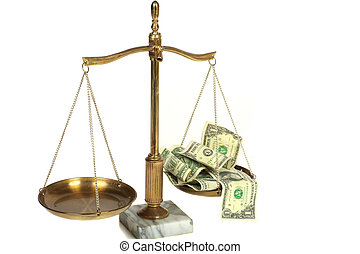 Conceptual view of high cost legal fees