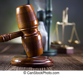 Legal gavel, scale of justice