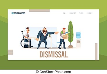 Legal Help in Case of Job Dismissal Vector Webpage - ...