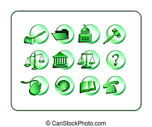 Legal Icon Set - Green
