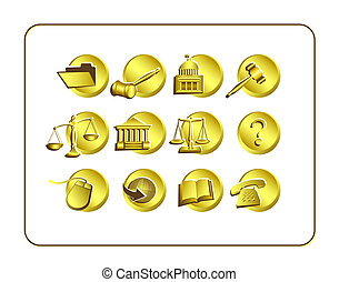 Legal Icon Set with clipping paths