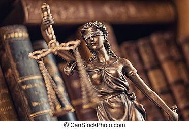 legal, ley, concepto, imagen, -, justicia de dama, estatua