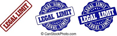 LEGAL LIMIT Scratched Stamp Seals
