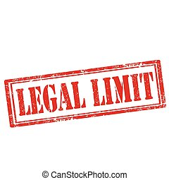 Legal Limit-stamp - Grunge rubber stamp with text Legal ...