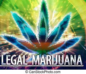legal, marijuana, concepto abstracto, ilustración digital