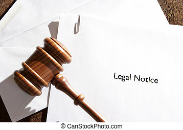 Legal Notice Papers - A served envelope of legal notice...