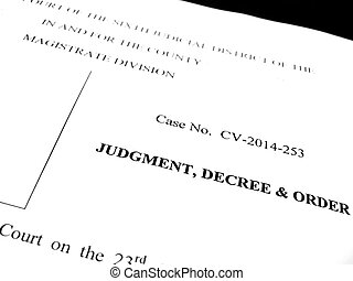 Detail of legal papers Judgment Decree and Order
