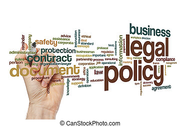 Legal policy word cloud