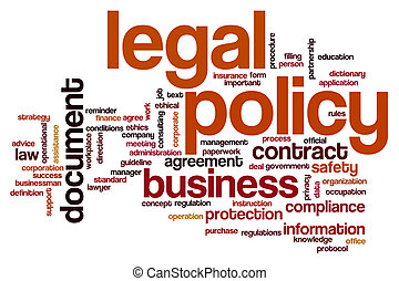 Legal policy word cloud concept