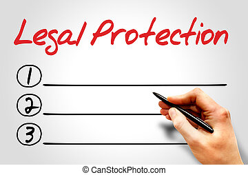 Legal Protection blank list concept