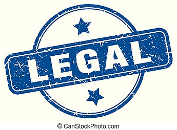 legal round grunge isolated stamp