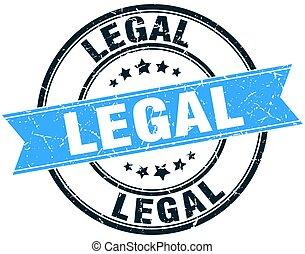 legal round grunge ribbon stamp