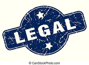legal sign - legal vintage round isolated stamp