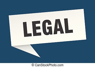 legal speech bubble. legal sign. legal banner
