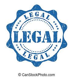 Legal stamp - Legal grunge rubber stamp on white, vector...