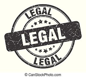 legal stamp. legal round grunge sign. legal
