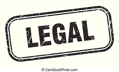 legal stamp. legal square grunge sign. legal