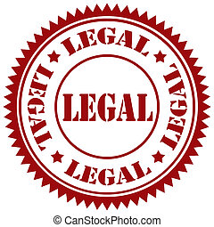 Legal-stamp - Rubber stamp with text Legal, vector ...
