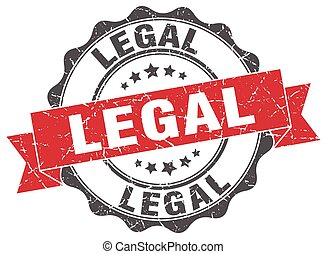 legal stamp. sign. seal