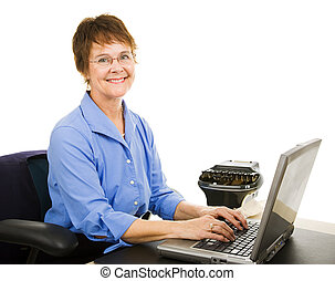 Legal Transcriptionist - Friendly court reporter typing...