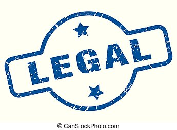 legal vintage stamp. legal sign