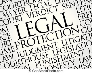 legal bulb word cloud collage concept background