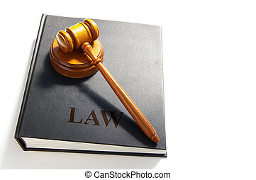 legale, martelletto, su, uno, libro legge