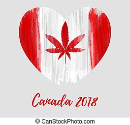 Legalization of cannabis in Canada. Abstract grunge ...