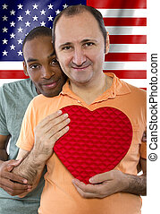 Legalization of Same Sex Marriage - same sex gay couple...