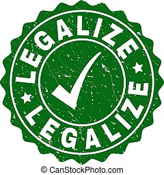 Legalize Scratched Stamp with Tick
