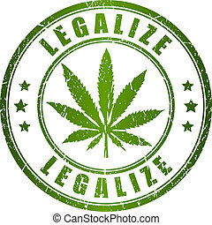 Legalize stamp isolated on white