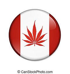 Legalized Marijuana in Canada Button